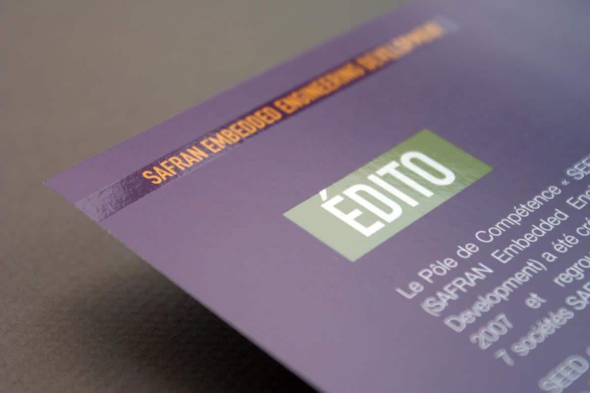 Brochure événementielle Safran