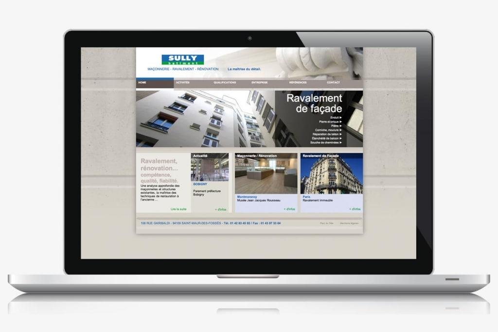 Site internet maçonnerie rénovation