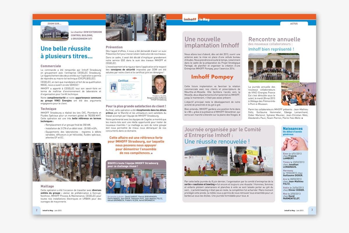 Pages intérieurs journal interne