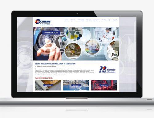Création du site Internet pour TF Chimie