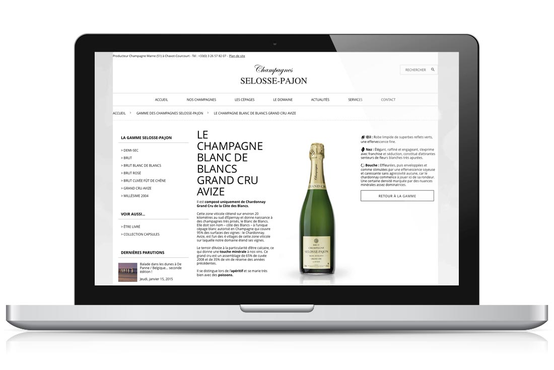 site internet champagnes