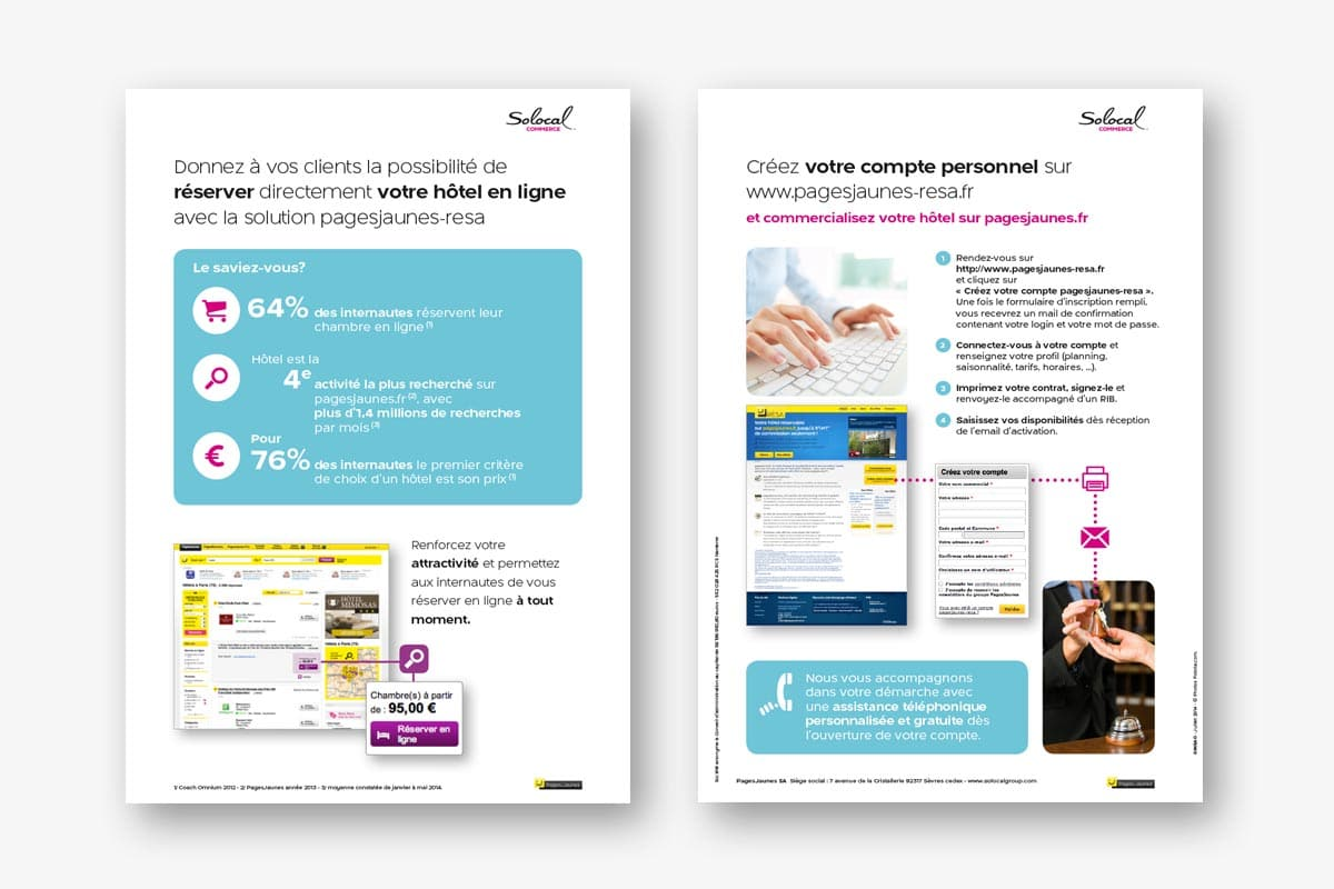 Solocal Commerce Guide présentation produits par l\'agence Ginsao