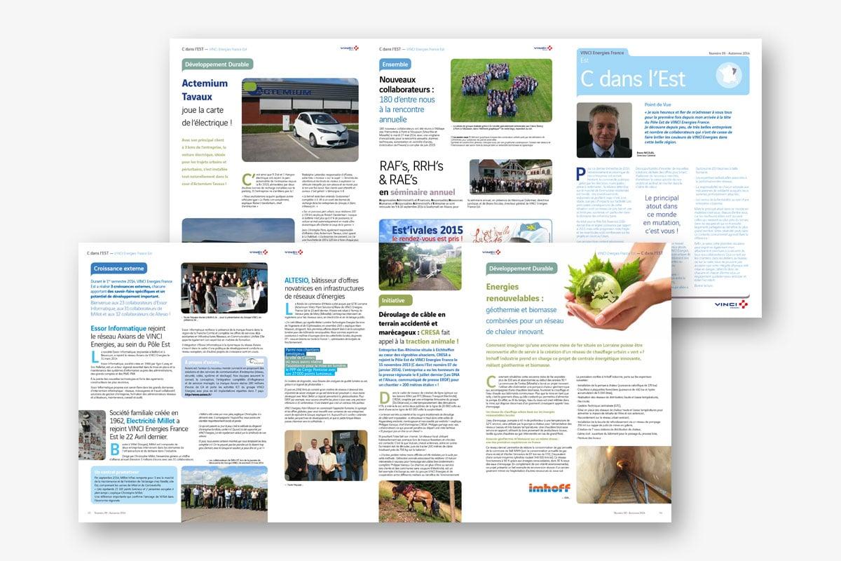 Journal interne C'est dans l'Est N°9 Vinci Energies - Ginsao
