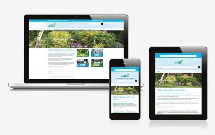 création site internet 94 paysagiste aidlib multiservice
