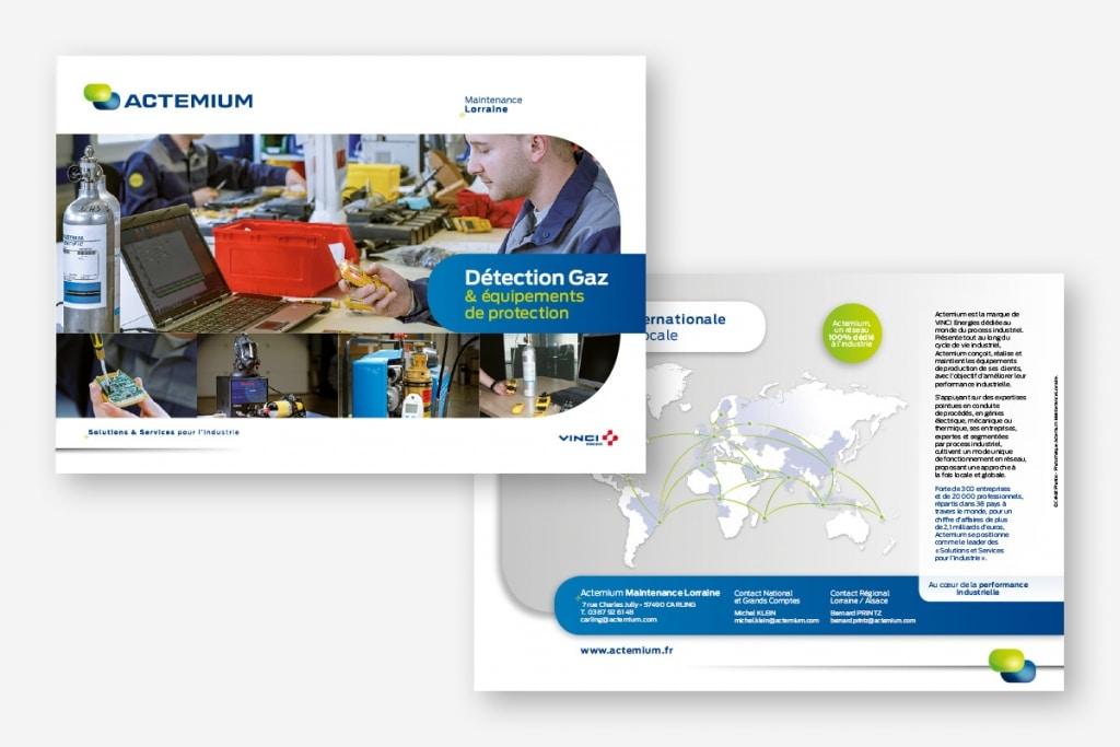 ginsao travaux prépresse édition brochure A5 de présentation Actemium