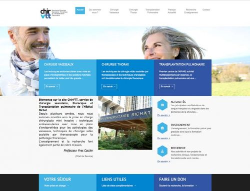 Site Internet du service ChirVTT Hôpital Bichat