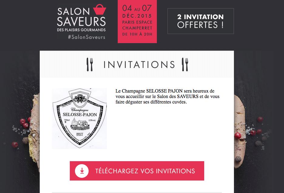 invitation-gratuite-salon-saveurs-espace-champerret-champagne-selosse-pajon-ginsao
