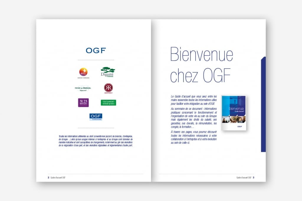 Guide accueil bienvenue OGF production routage GINSAO