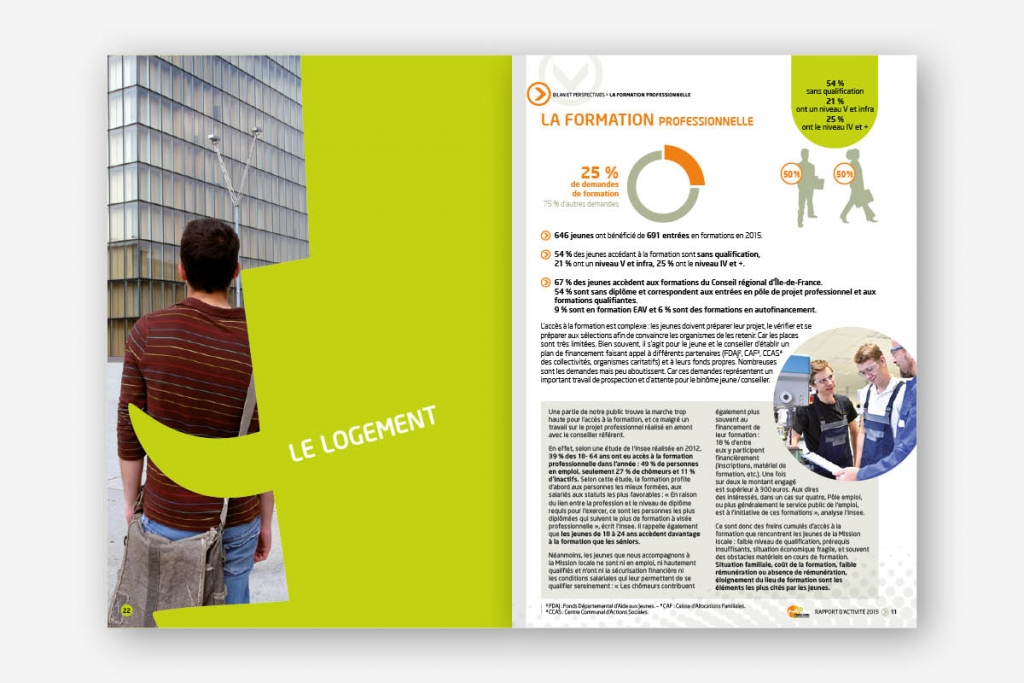 Rapport annuel 2015 Mission Locale Ivry Vitry