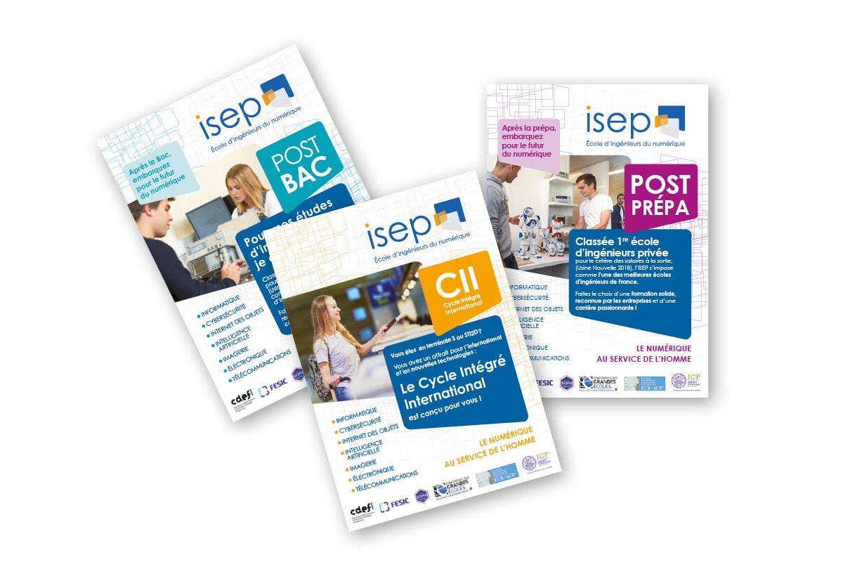 brochure-ecole-isep-principe-graphique-ginsao-Agence graphique